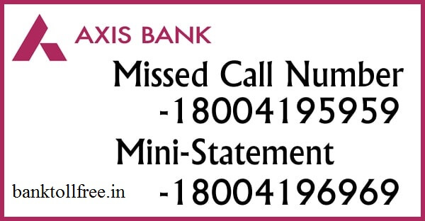 Axis Bank Customer Care 24x7 number & Toll Free helpline Number