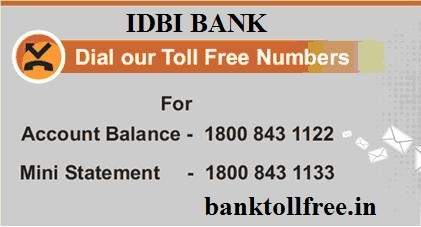 idbi bank customer care no