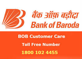 BOB Bank of Baroda customer care toll free helpline number