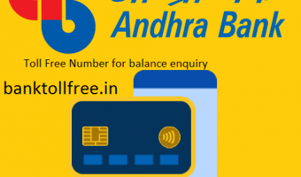 Andhra Bank Toll Free Number-Miss call Balance number